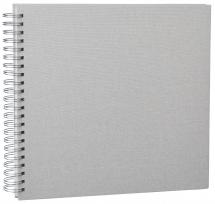 Base Line Canvas Wire-O Beige 30x30 cm (50 Vita sidor / 25 Blad)