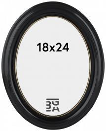 Eiri Mozart Oval Svart 18x24 cm