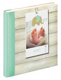 Welcome Babyalbum Grön - 28x30,5 cm (50 Vita sidor / 25 blad)