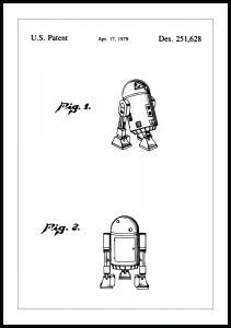 Patentritning - Star Wars - R2-D2 Poster
