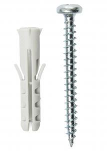 Skruv och plugg för betongvägg - 5-pack (40x8 mm)