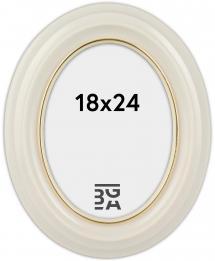 Eiri Mozart Oval Vit 18x24 cm