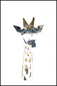 Giraffe sunrise Poster