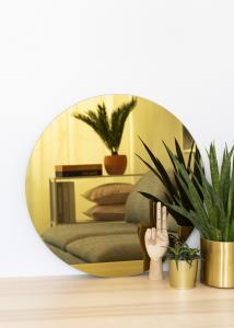 KAILA Rund Spegel Gold 60 cm Ø