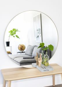 Spegel Vendela Mässing 110 cm Ø