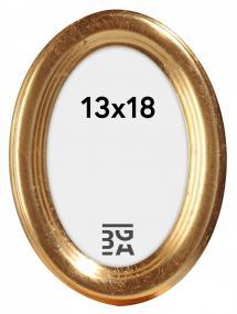 Molly Oval Guld 13x18 cm