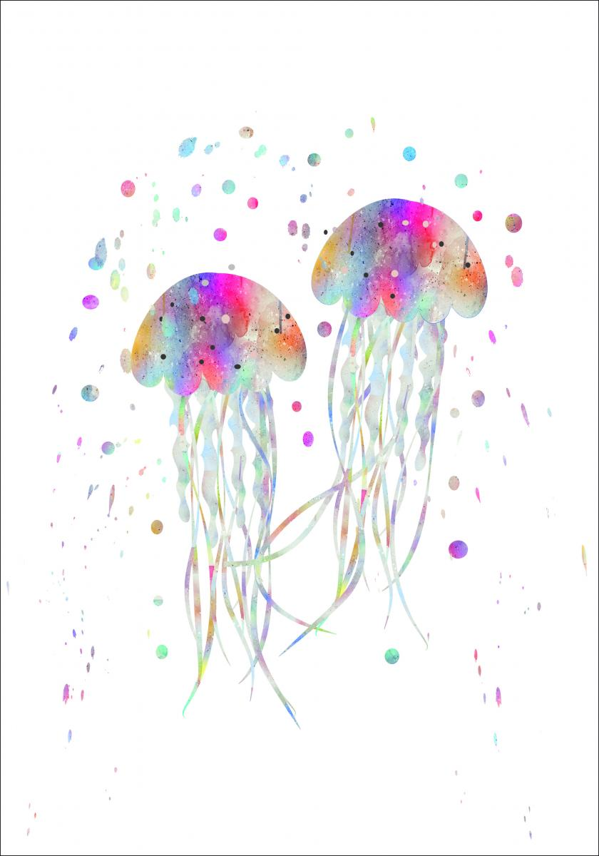 Jellyfishes stingers Poster