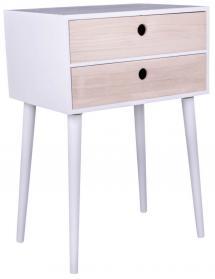 Sängbord Rimini 32x45 cm - Vit/Trä