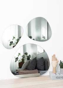 Spegel Set Warm Grey - 3 st