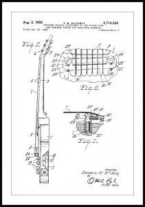 Patentritning - Elgitarr II Poster