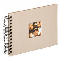 Fun Spiralalbum Sand - 23x17 cm (40 Svarta sidor / 20 blad)