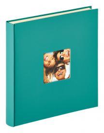 Fun Självhäftande Grön - 33x34 cm (50 Vita sidor / 25 blad)