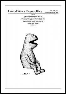 Patentritning - Mupparna - Kermit I Poster