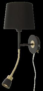 Vägglampa Eketorp - Svart/Mässing