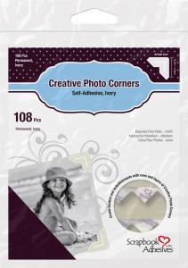 3L Creative Photo Corners Vit - 108 st