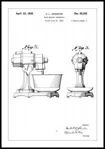 Patentritning - Mixer II Poster