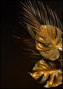 Golden Monstera Poster