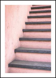 Pink stairs Poster