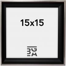 Ram Öjaren Svart-Silver 15x15 cm