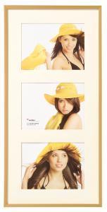 New Lifestyle Collageram Guld - 3 Bilder (15x20 cm)