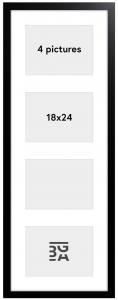 Black Wood Collageram - 4 Bilder (18x24 cm)