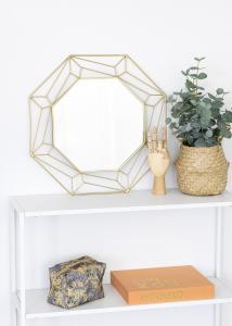 KAILA Spegel Abstract - Guld 50x50 cm
