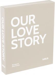 KAILA OUR LOVE STORY Grey - Coffee Table Photo Album (60 Svarta Sidor)