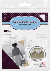 3L Creative Photo Corners Brun - 108 st
