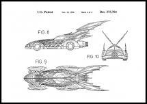 Patentritning - Batman - Batmobile 1996 IIII Poster