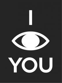 I see you - Svart med vitt tryck Poster