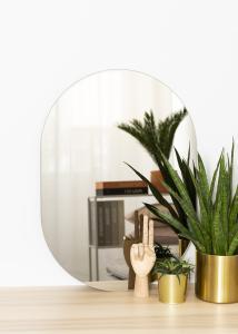KAILA Spegel Oval Dark Bronze 50x70 cm