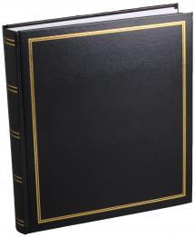 Diamant Fotoalbum Svart 27,5x32 cm (100 Vita sidor / 50 Blad)