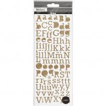 Focus Glitterstickers Guld Letters