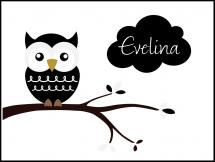 Owl Name Poster Black