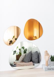 Spegel Set Orange, Rose Gold & Clear - 3 st