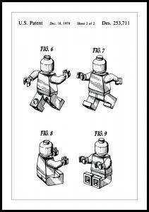 Patentritning - Lego II Poster