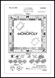 Patentritning - Monopol I Poster