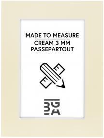 Passepartout Creme 3 mm (Vit kärna) - Måttbeställd