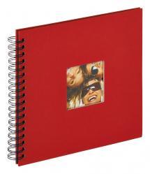 Fun Spiralalbum Röd - 26x25 cm (40 Svarta sidor / 20 blad)