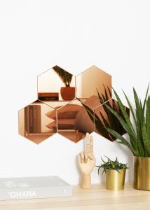 KAILA Spegel Hexagon Rose Gold 18x21 cm - 5-pack