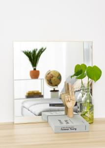 KAILA Square Mirror - Thin Brass 60x60 cm