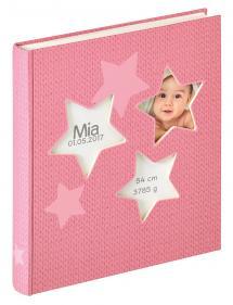Estrella Babyalbum Rosa - 28x30,5 cm (50 Vita sidor / 25 blad)