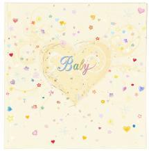 Premium Babyalbum - 25x25 cm (50 Vita sidor / 25 blad)