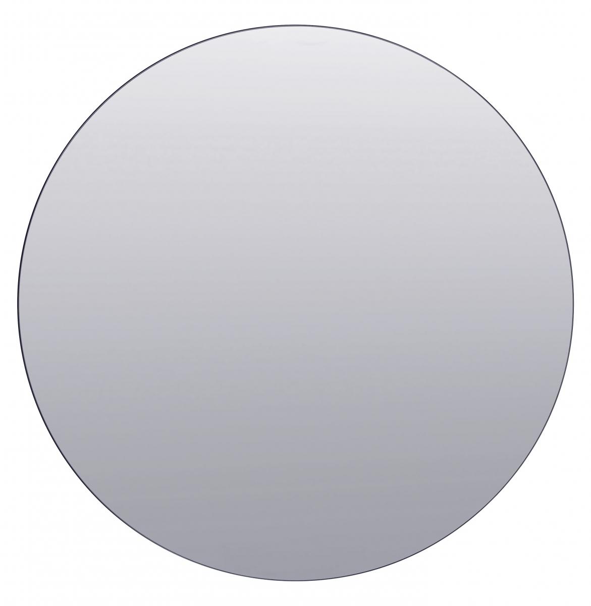 Rund spegel utan kant med grått spegelglas från House Doctor. Storlek 80 cm