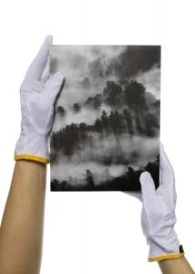 Bomullsvantar för bilder