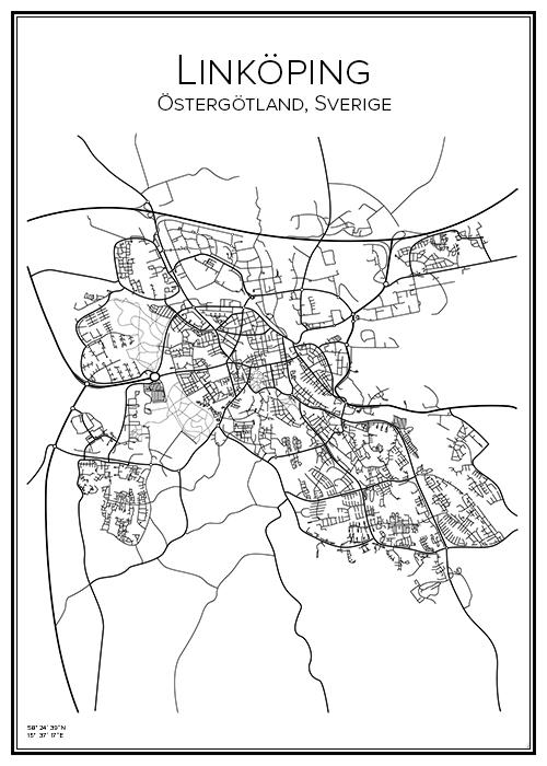 Karta Linkoping Bga