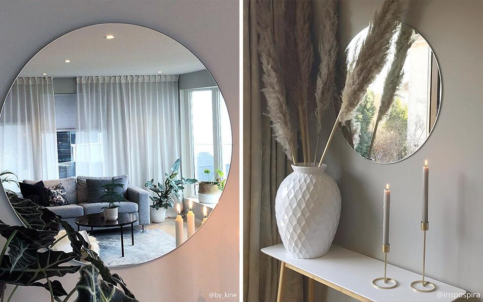 rund spegel vardagsrum