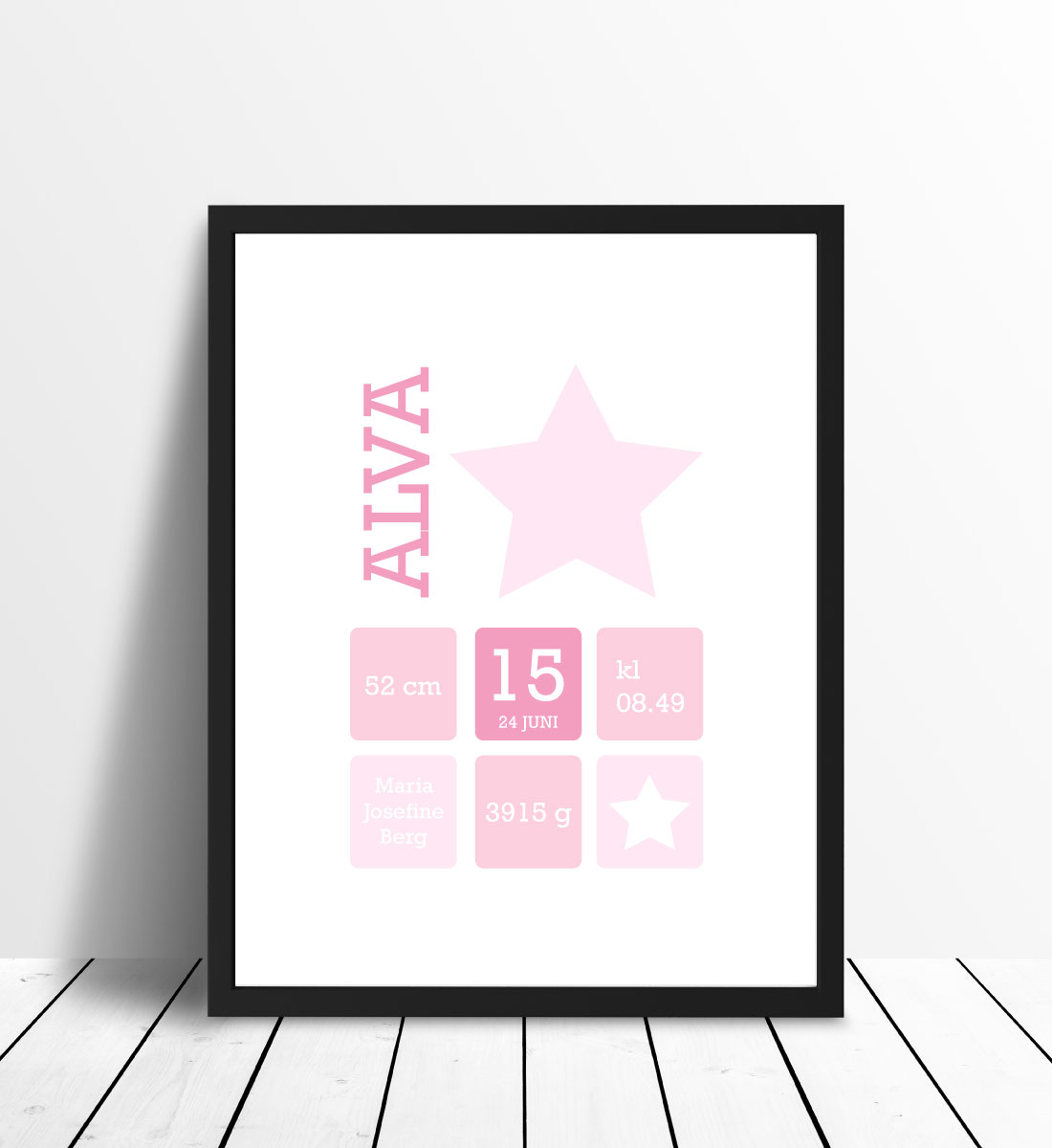Star Birth Poster Pink