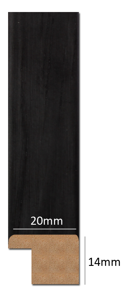 Estancia Trendy Wood Black 70x70 cm